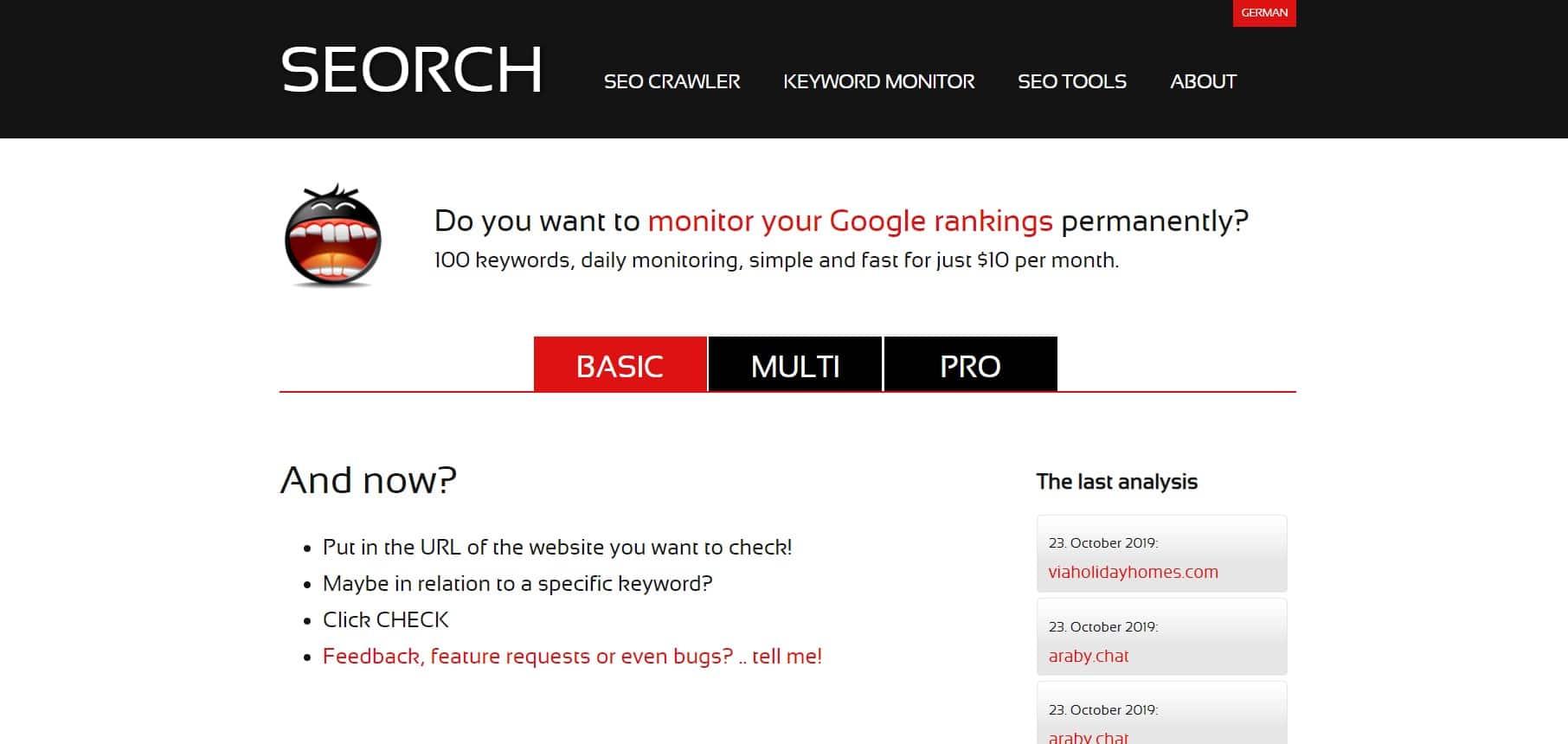 SEORCH - công cụ kiểm tra tối ưu website