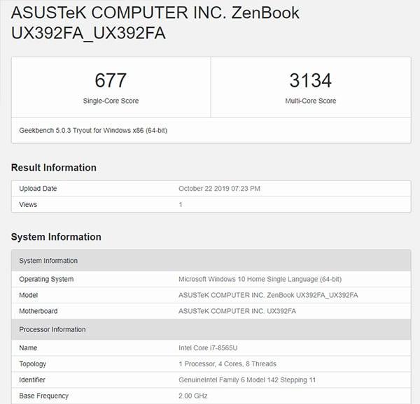 Cấu hình ấn tượng của ASUS ZenBook UX392.