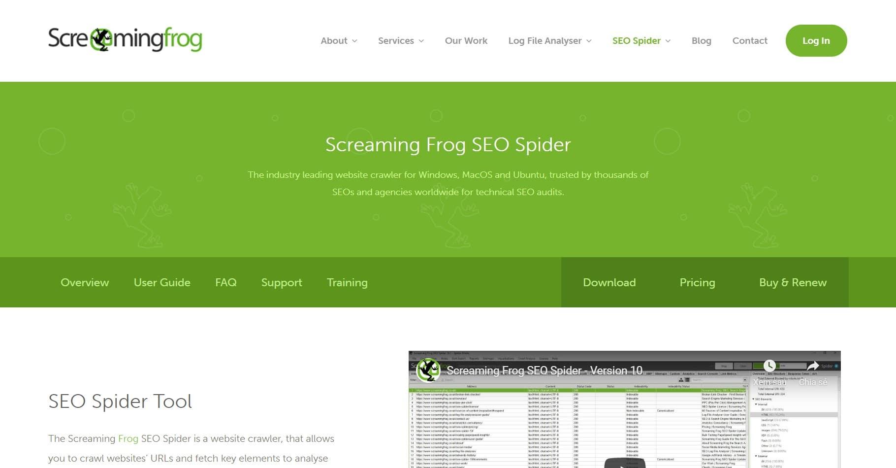 screaming frog - công cụ kiểm tra tối ưu website
