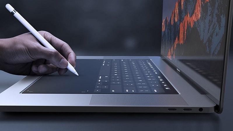 Macbook bàn phím cắt kéo
