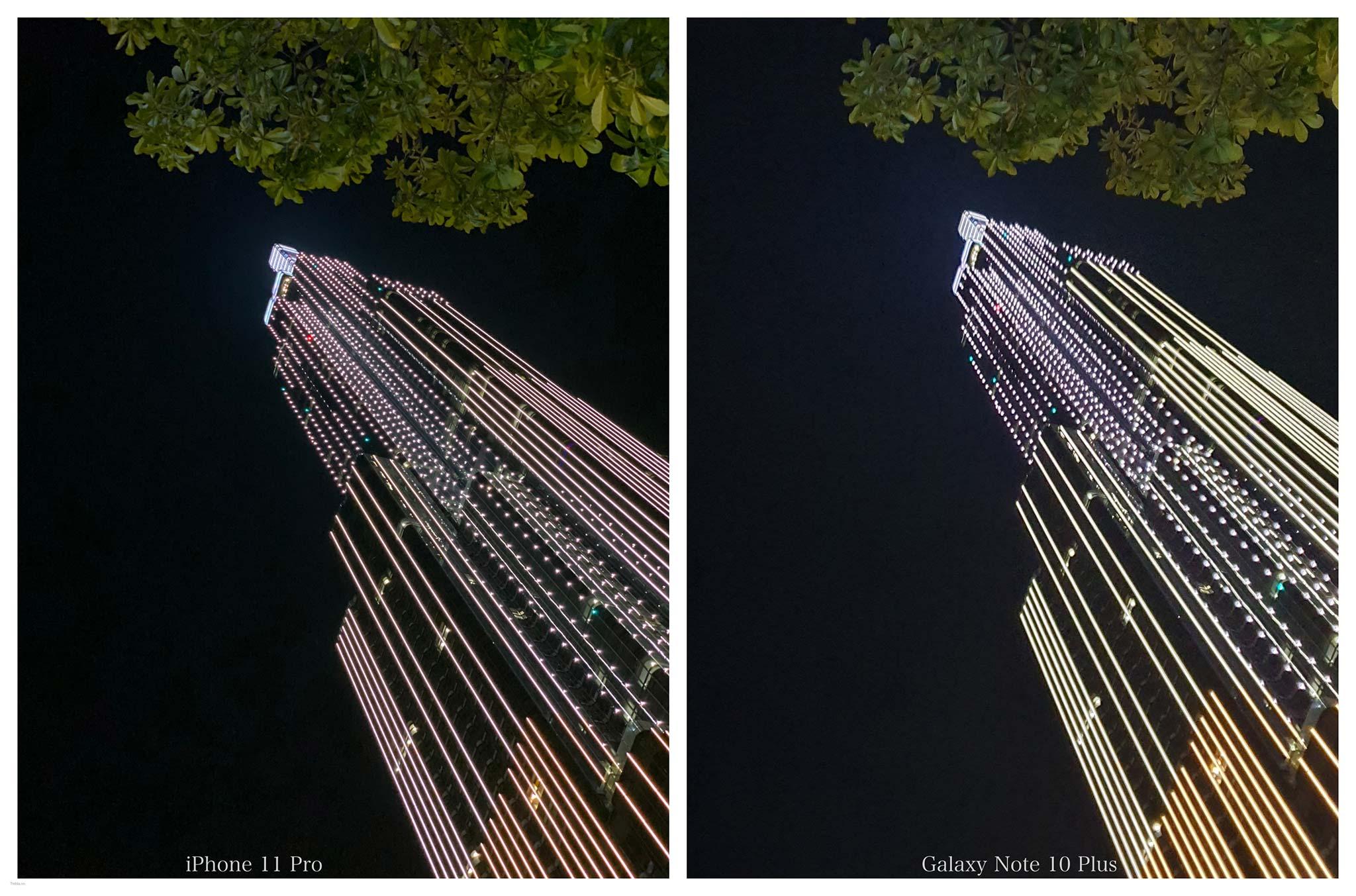 So sánh iPhone 11 Pro & Galaxy Note 10+: Camera chụp ảnh đêm
