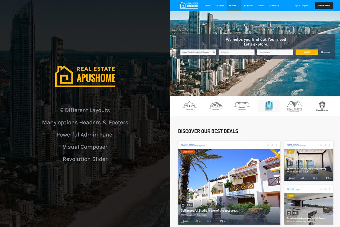 ApusHome - Real Estate WordPress Theme