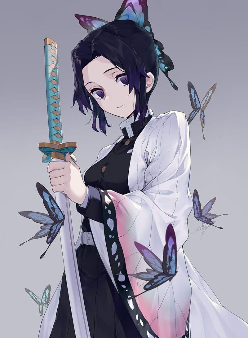 Ngoại hình Kochou Shinobu