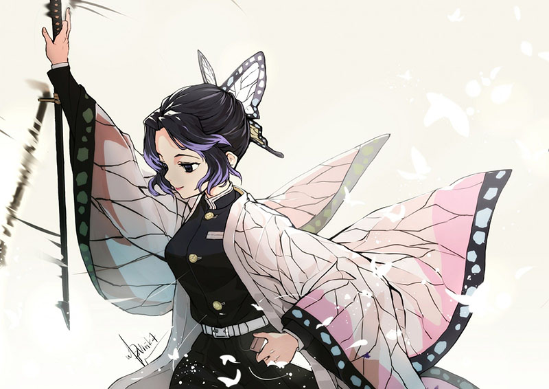 Là một Trụ Cột của Sát Quỷ Đoàn, Kochou Shinobu là một kiếm sĩ rất mạnh.