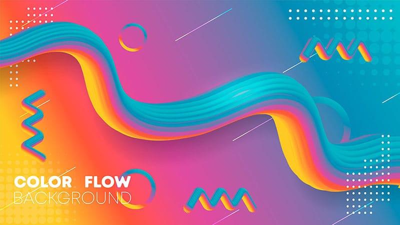 Liquid Gradient color Background, Fluid gradient