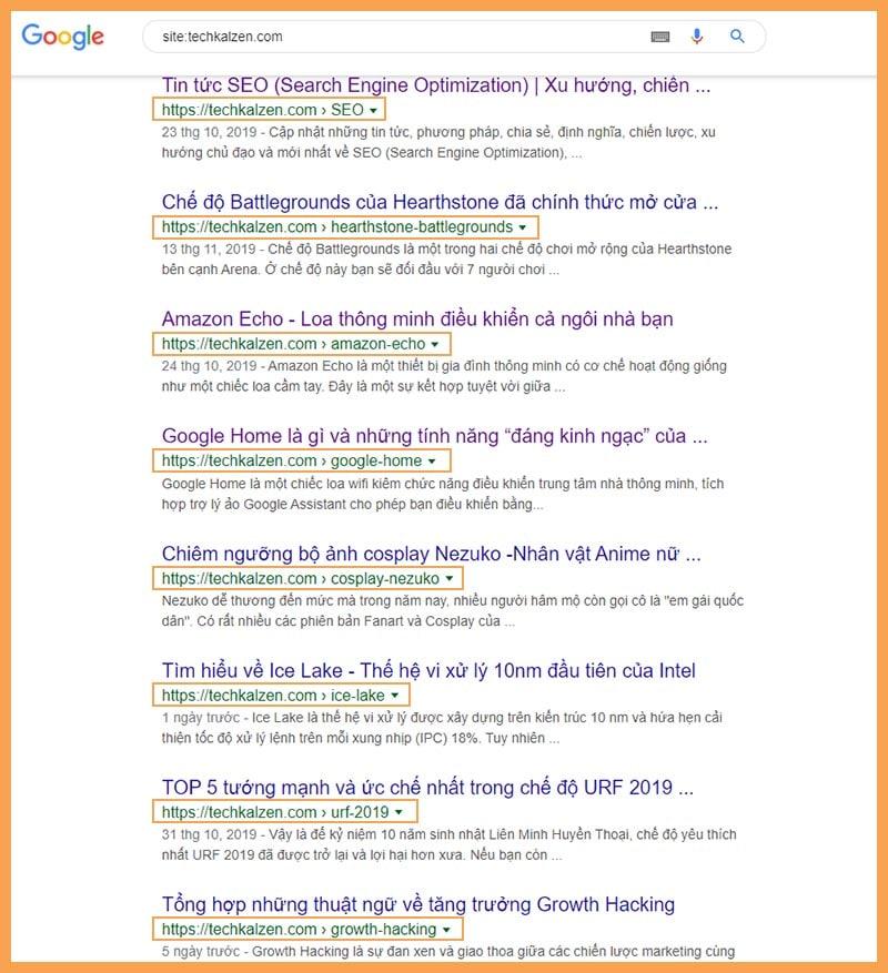 URL nên dưới 6 từ và không quá 115 kí tự. URL top 1 thường có trung bình 59 ký tự