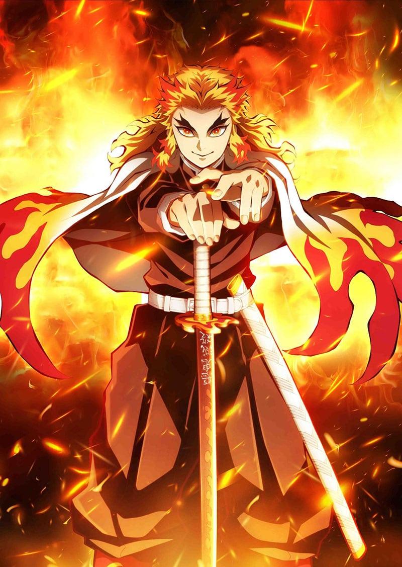 Rengoku Kyoujurou 「煉獄 杏寿郎 Rengoku Kyoujurou」 là một Thợ Săn Quỷ, anh cũng là Viêm Trụ của Sát Quỷ Đội trong bộ anime/manga Kimetsu no Yaiba.
