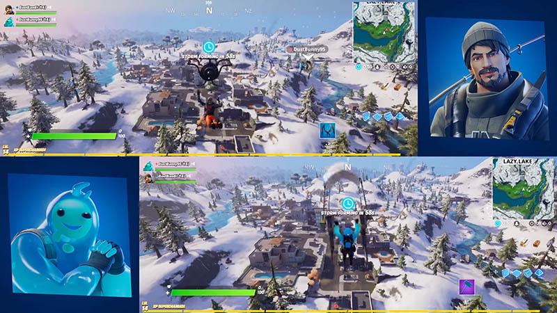 EpicGame giới thiệu tính năng mới Split Screen trong game Fortnite trên hệ máy Console