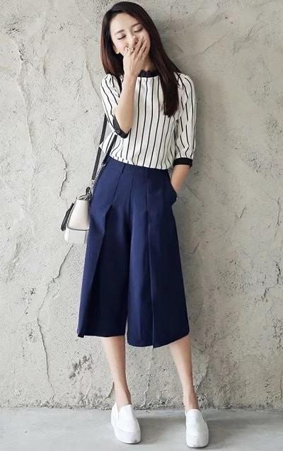 Đa số quần ống rộng có thiết kế đơn giản, có hình dáng giống như một chiếc váy, tạo sự thoải mái cho người mặc