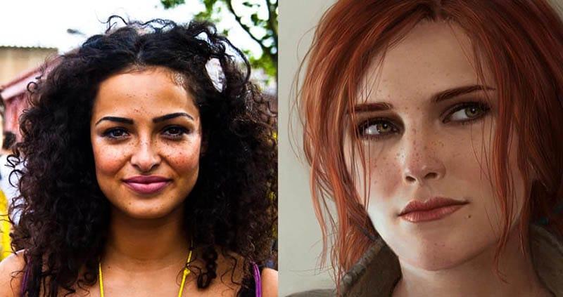 so sánh nhân vật trong phim và game the witcher