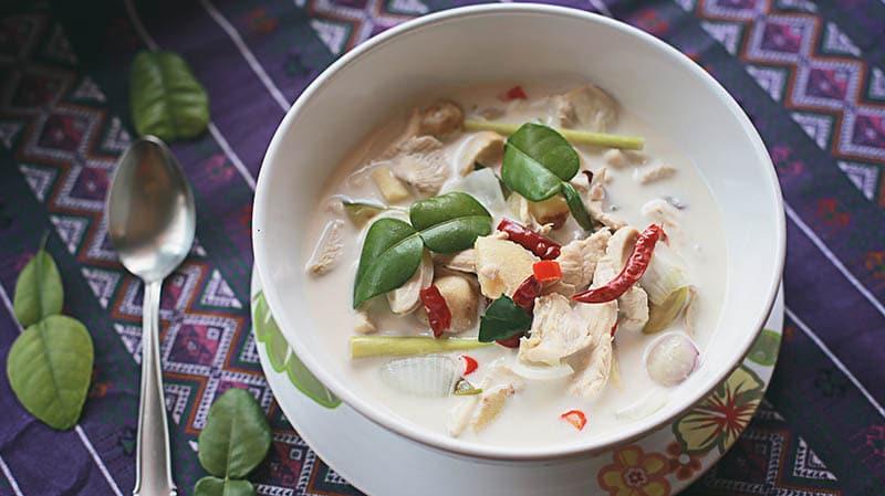 công thức nấu súp gà nước cốt dừa