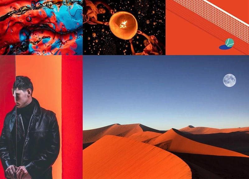 xu hướng màu sắc 2020 - Lush Lava - Màu đỏ cam