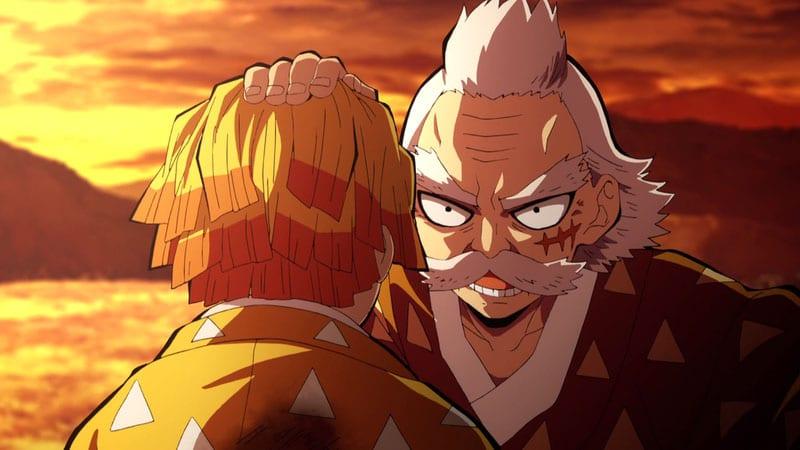 Zenitsu và ông Kuwajima Jigorou