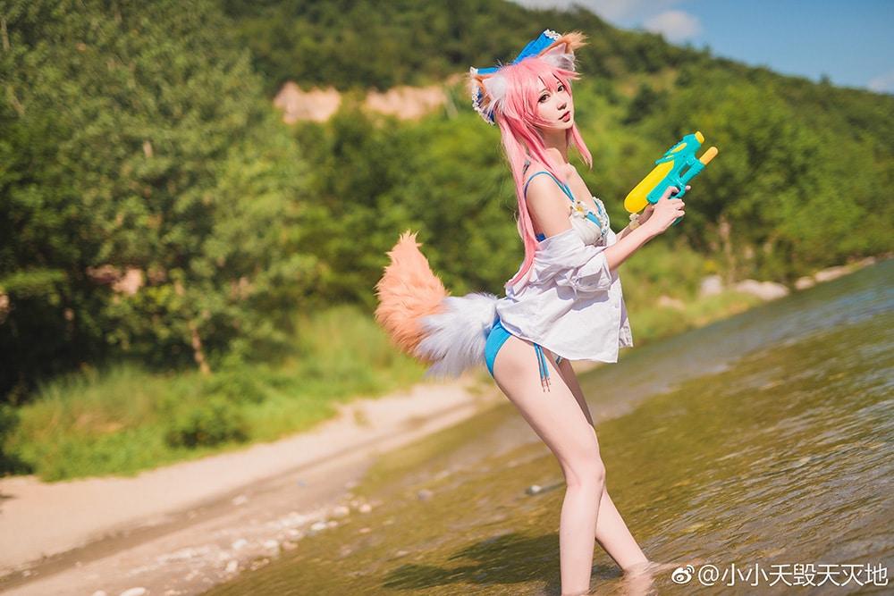 Ngắm nàng Tamamo No Mae xinh đẹp trong Fate/Extella diện bikini cực hot