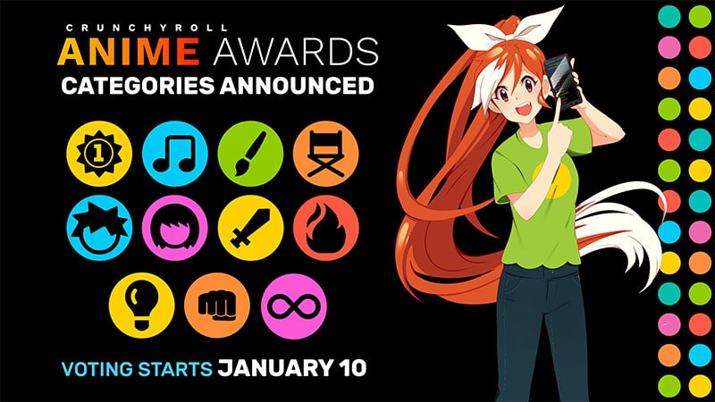 Giải thưởng Anime của Crunchyroll lần thứ 4 sẽ được tổ chức vào ngày 15/2