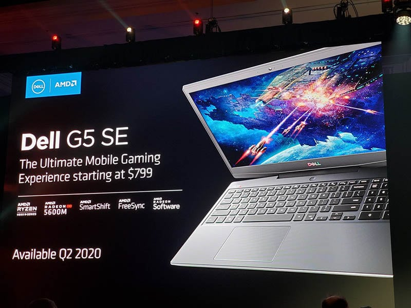 Dell G5 15 SE: Bộ vi xử lý mạnh 8 lõi Ryzen 4000 & Radeon RX 5600M dCPU