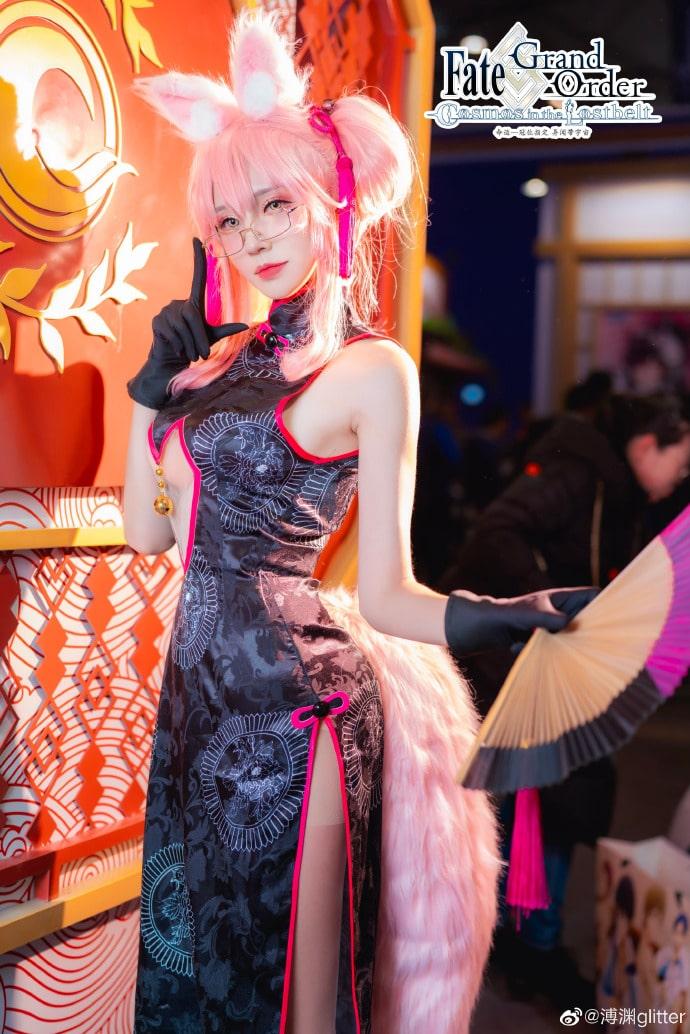 Thưởng thức bộ cosplay Tamamo no Mae trang phục Trung Quốc cực đẹp