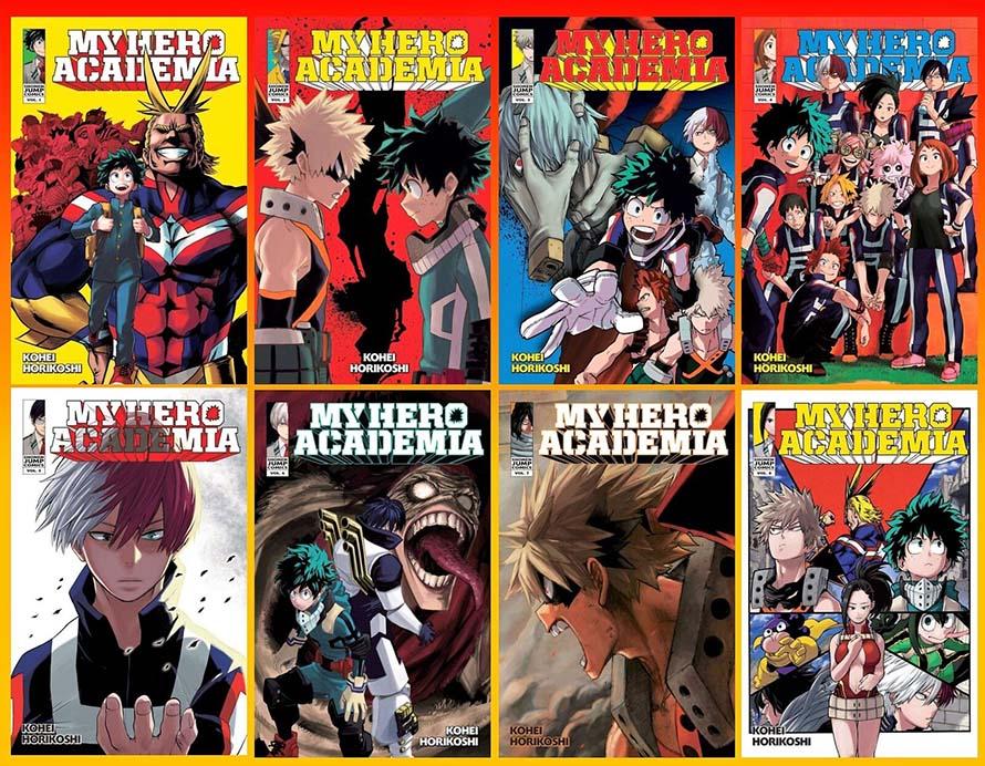 Manga My Hero Academia đứng hạng #3 trên bảng xếp hạng Bookscan tháng 12