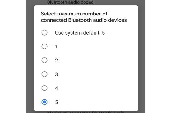 Kết nối Bluetooth với 5 thiết bị khác nhau