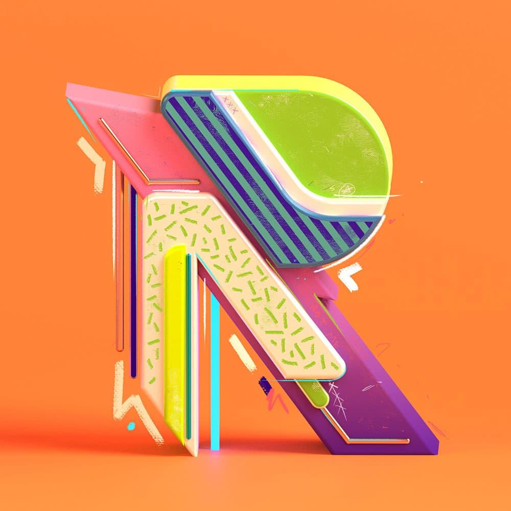 Những tác phẩm Typography 3D tuyệt đẹp của nhà thiết kế Prateek Vatash