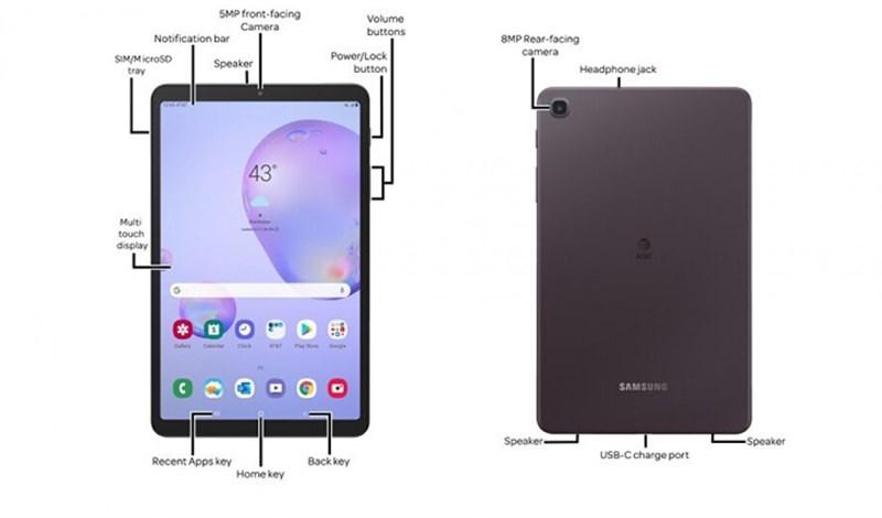 Lộ ảnh render cực rõ nét của Galaxy Tab A 8.4 (2020)
