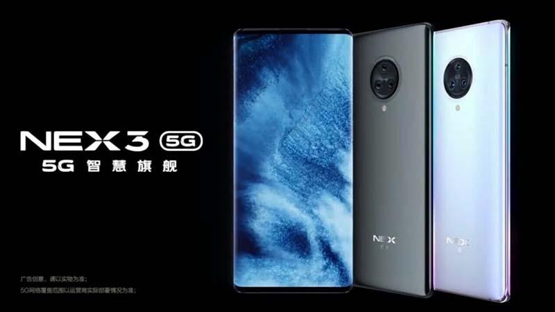 Vivo NEX 3S 5G có cấu hình cực cao sẽ chính thức ra mắt vào ngày 10/3