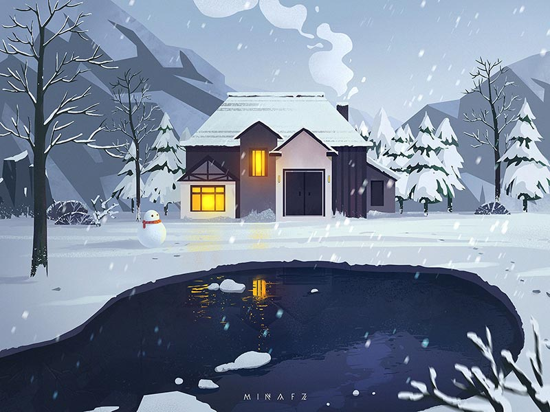 Những tác phẩm minh họa tuyệt đẹp của nhà thiết kế Mina FZ