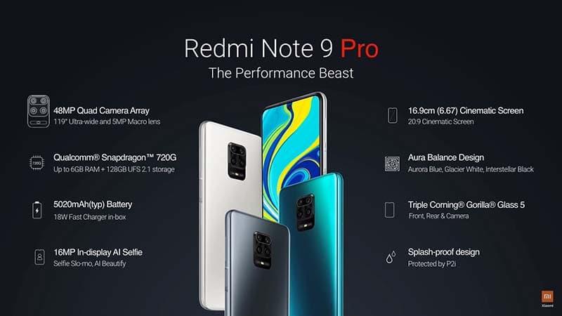Ra mắt cặp đôi Redmi Note 9 Pro và Redmi Note 9 Pro Max