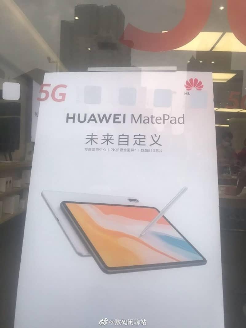 MatePad mới của Huawei lộ ảnh quảng cáo thực tế