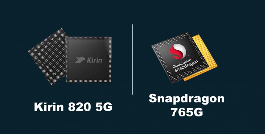 So sánh giữa Huawei Kirin 820 5G và Qualcomm Snapdragon 765G