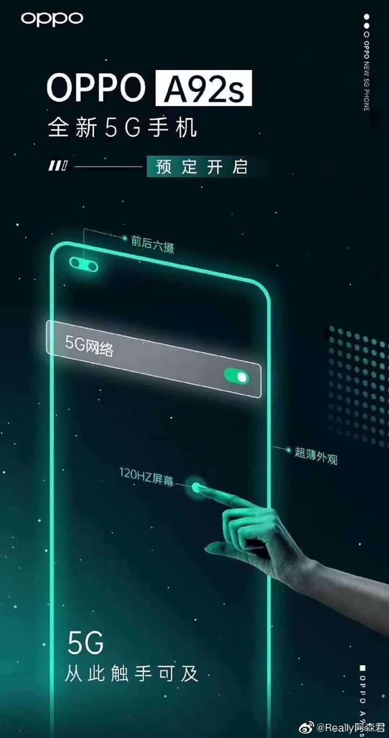 OPPO sắp tung ra smartphone mới có tên là OPPO A92s?