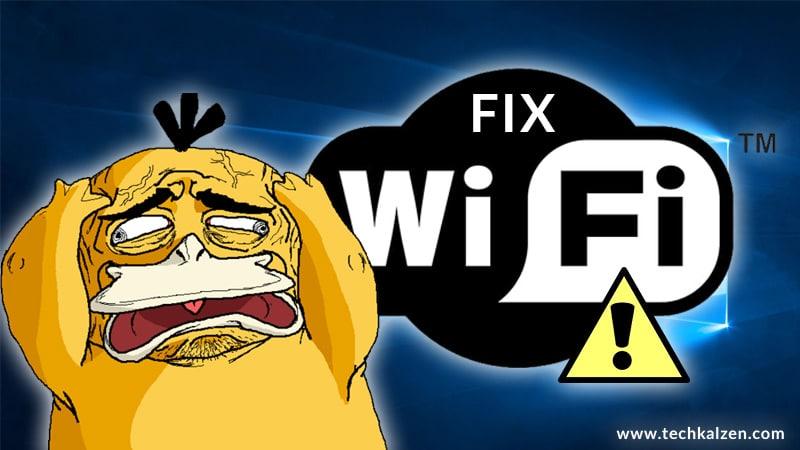 Sửa Lỗi Laptop không bắt được Wifi Win 10 dấu chấm than