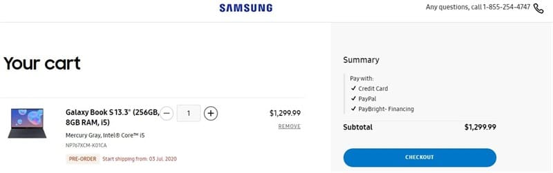 """Samsung Galaxy Book S 2020 chính thức ra mắt, cấu hình khủng, giá """"chát"""""""