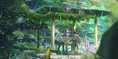 Câu chuyện xoay quanh hai nhân vật chính Takao và Yukino, lấy bối cảnh Tokyo vào mùa mưa.