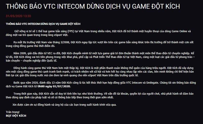 """VTC dừng phát hành, phải chăng là dấu chấm hết cho """"Đột Kích""""?"""