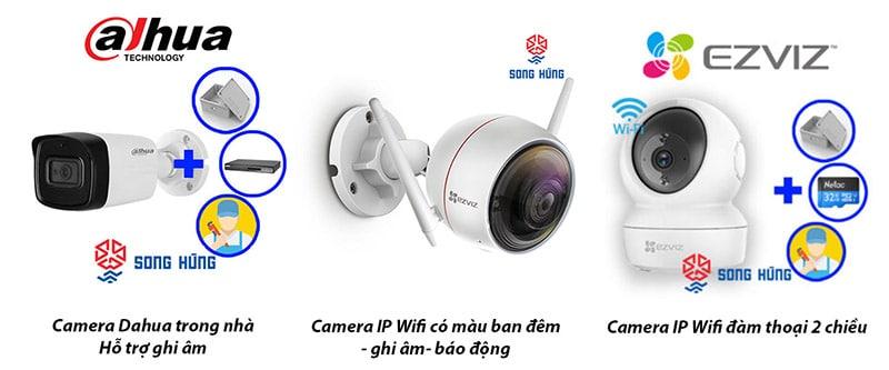 Thiết bị camera loại IP wifi không cần dây cáp phức tạp