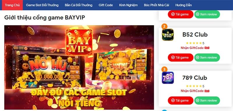 Cổng game Bayvip – game bài đổi thưởng hàng đầu