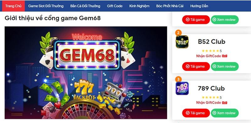 Cổng game Gem68 – Sân chơi lý tưởng