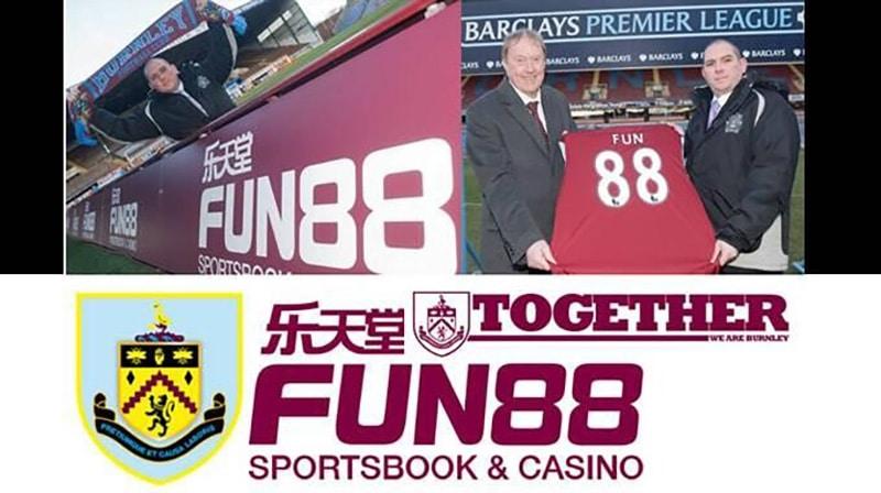 Fun88 là nhà tài trợ cho đội tuyển Burnley
