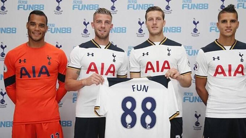 Fun88 là nhà tài trợ cho đội tuyển Tottenham